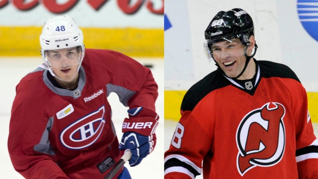 Daniel Briere and Jaromir Jagr