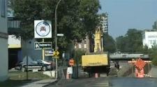 The construction has been intense near Crowley St. which is south of, and parallel to, Upper Lachine west of Decarie