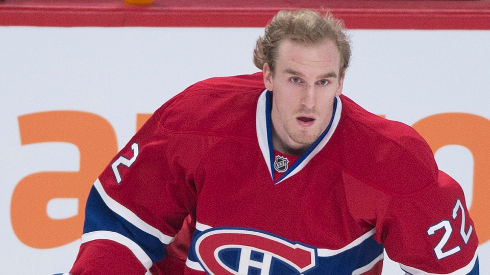 Montreal Canadiens' Dale Weise warms up prior to an NHL hockey game against the Calgary Flames in Montreal, Tuesday, February 4, 2014. THE CANADIAN PRESS/Graham Hughes