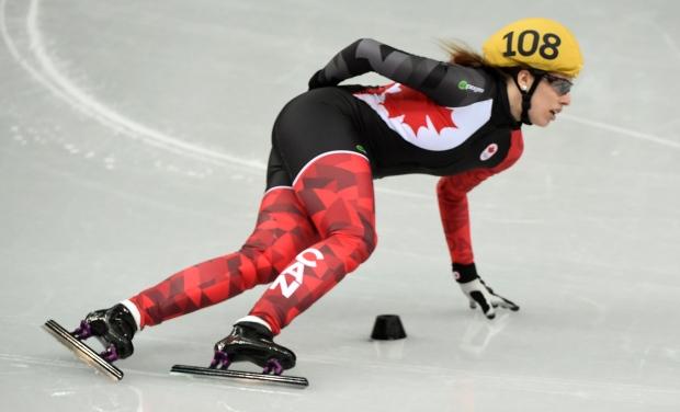 Canada at Sochi Games Marianne St-Gelais