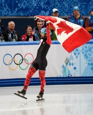 Charles Hamelin Gold medal Sochi Olympics