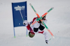 Alex  Bilodeau wins in moguls freestyle