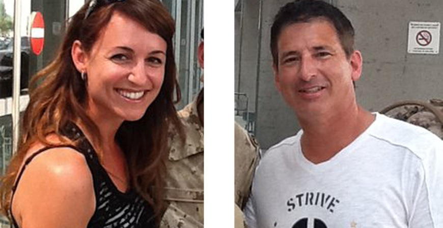 Julie Lemieux and Luc Gelinas, are seen here in an undated Facebook photo.