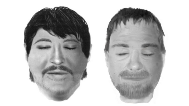 Montreal police issued these images of two dead me