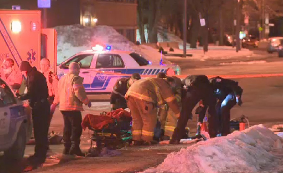 Two men in their 20s are in hospital after they were struck by bullets in NDG early Sunday morning.