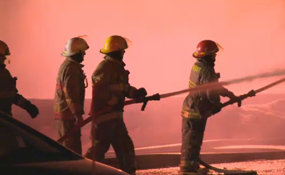 A fire broke out in a grocery store in Wickham, Que. at around 8 pm Saturday night.