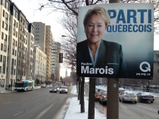 Marois election poster