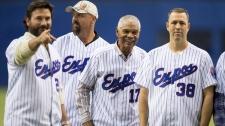 Former Montreal Expos Darren Fletcher, Larry Walke
