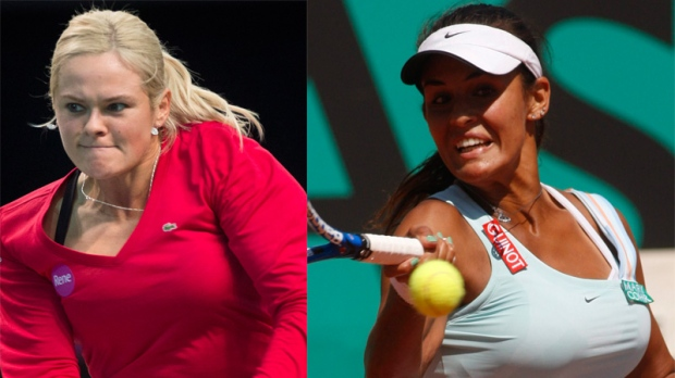 Aleksandra Wozniak (left) has edged Toronto's Heid