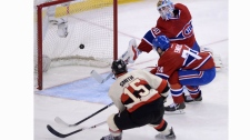 Ottawa Senators forward Zack Smith (15) blasts the