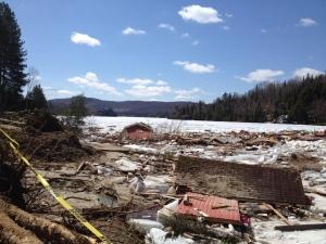 lac des seize iles landslide