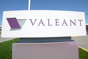 A Valeant Pharmaceutical sign is pictured at its head office in Montreal on Monday, May 27, 2013. (Ryan Remiorz / THE CANADIAN PRESS)