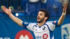 Montreal Impact's Felipe Martins celebrates after