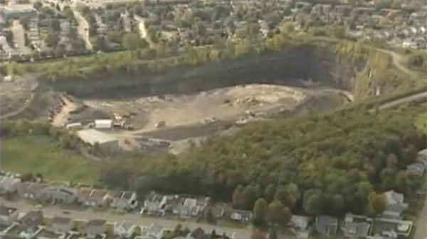 The smell coming from an old Pierrefonds quarry has upset some nearby residents. (CTV Montreal)