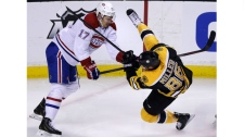Montreal Canadiens left wing Rene Bourque (17) upe