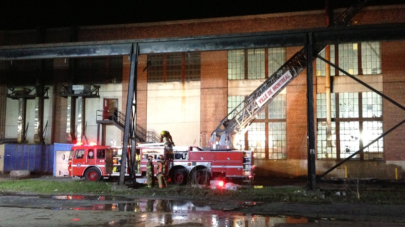 This building on Le Ber in Point St. Charles was damaged by fire Wednesday. (CTV Montreal May, 7, 2014)