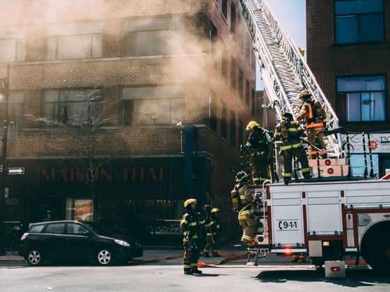Jason Mousseau took this photo of a building fire on St. Laurent Blvd. (May 7, 2014)
