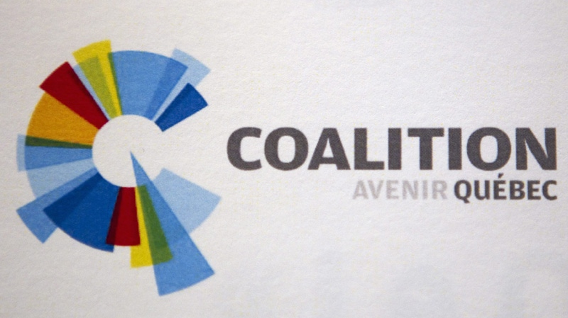 The logo of the new provincial political party, Coalition Avenir Quebec (Coalition For Quebec's Future) is shown in Quebec City, Monday, Nov.14, 2011. THE CANADIAN PRESS/Jacques Boissinot