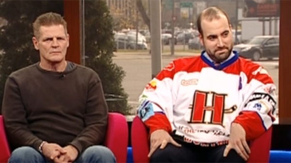 Chris Nilan and Michael Coughlin talking about the Hockey helps the homeless event (Nov. 15, 2011)