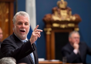 Quebec Premier Philippe Couillard responds to Opposition questions, Thursday, June 5, 2014 during question period at the legislature in Quebec City. (Jacques Boissinot / THE CANADIAN PRESS)