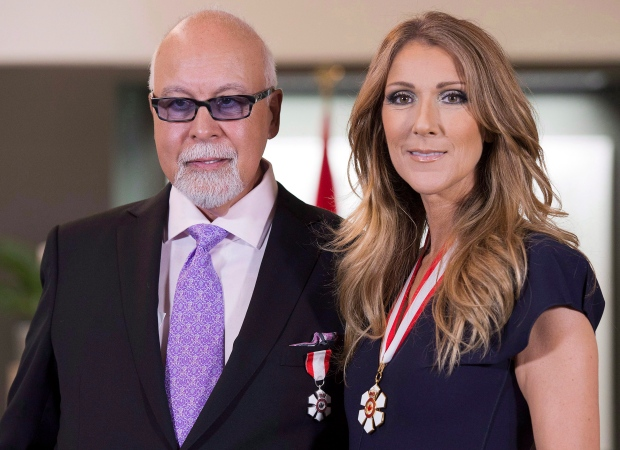 Celine Dion and Rene Angelil with Order of Canada