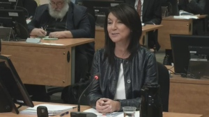 Nathalie Normandeau testifies at the Charbonneau commission into corruption on Wednesday June 18, 2014