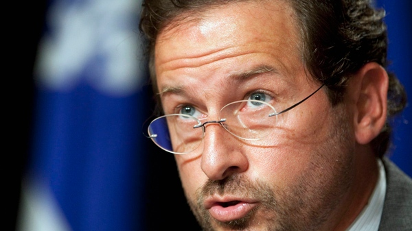 PQ MNA Yves-Francois Blanchet will no longer answer English questions at news conferences (THE CANADIAN PRESS/Jacques Boissinot)