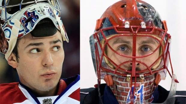 Carey Price (left) goes up against former teammate Jaroslav Halak at the Bell Centre Wednesday.
