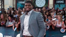 P.K. Subban arrives on the red carpet at the 2014