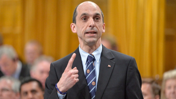 Public safety minister Steven Blaney speaks in the