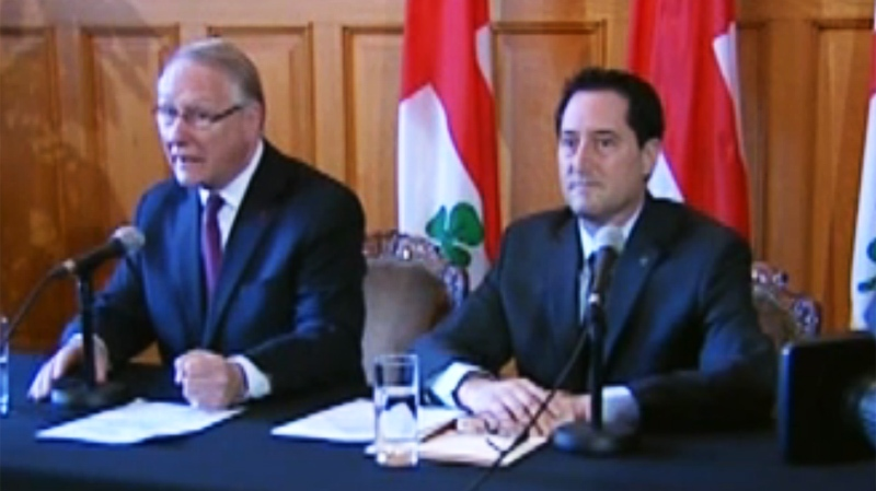 The mayor was flanked by Executive Committee member Michael Applebaum who also serves as Borough Mayor for CDN-NDG, an area that some feel has been underfunded.