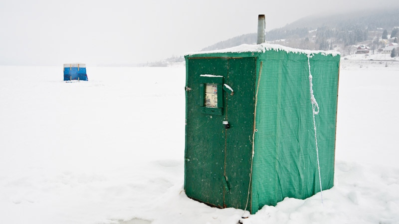 This image of an ice fishing shack in the Gaspe is part of Linda Rutenberg's new coffee table book, which was made possible by crowdfunding.