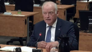 André Caillé, former president of Hydro-Quebec, testifies before the Charbonneau Commission on Sept. 9, 2014