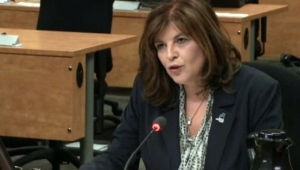 CCQ chief Diane Lemieux is seen here testifying at the Charbonneau Commission on September 18, 2014. (CTV Montreal)