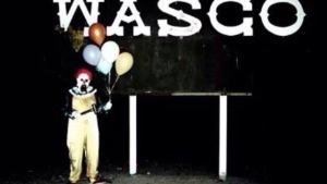 A series of attacks in France is being linked to a spike in people dressing as the scary 'Wasco Clown,' shown in this image from Facebook. (Facebook/Rangel Photography)