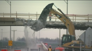 CTV Montreal: Overpass demolition
