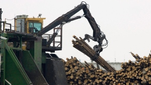 Tembec softwood lumber plant in operation on Nov 13, 2008 in Senneterre Que. (THE CANADIAN PRESS/Jacques Boissinot)