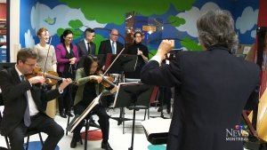 CTV Montreal: MSO plays at children's hospital