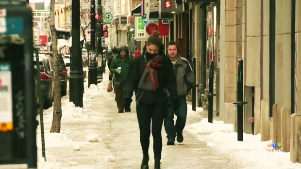 Thousands of Montrealers in the dark as icy rain falls - CTV News