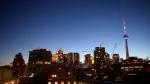 The sun begins to rise over Toronto on Tuesday, Jan. 13, 2015. (Simon Ostler / CTV Toronto)