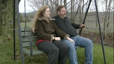 Lynda and Terry Hartley oppose wind turbines being built in Vermont. (May 3, 2012)