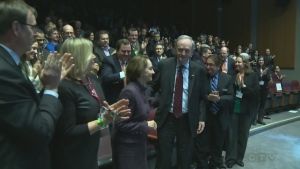 Former prime minister Jean Chretien spoke to a full house at Concordia University Wednesday night, and reminisced about the past, much to the delight of the crowd.