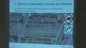 Highway changes made for the Turcot interchange