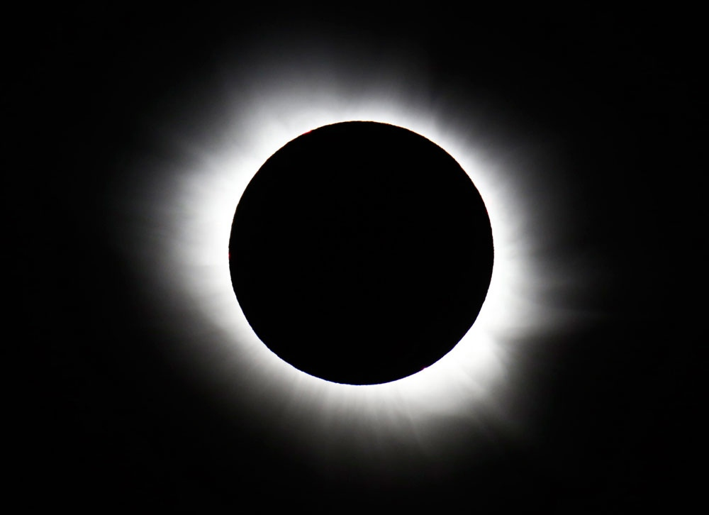 Solar Eclipse  On Vancouver Island
