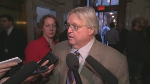 Health Minister Gaetan Barrette discusses abortion access on March 25, 2015