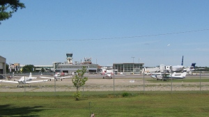 The airport in Burlington, Vermont is seen in this Wikipedia photo.
