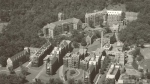 An aerial view of the Royal Victoria Hospital, date unknown.