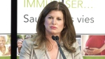 Health Minister Rona Ambrose speaks to media Friday about concerns over Vancouver's move to regulate marijuana dispensaries.