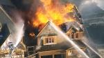 Raging fire north of Toronto