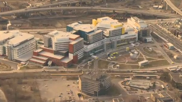 Aerial shot as patients transfer to the new Glen site.